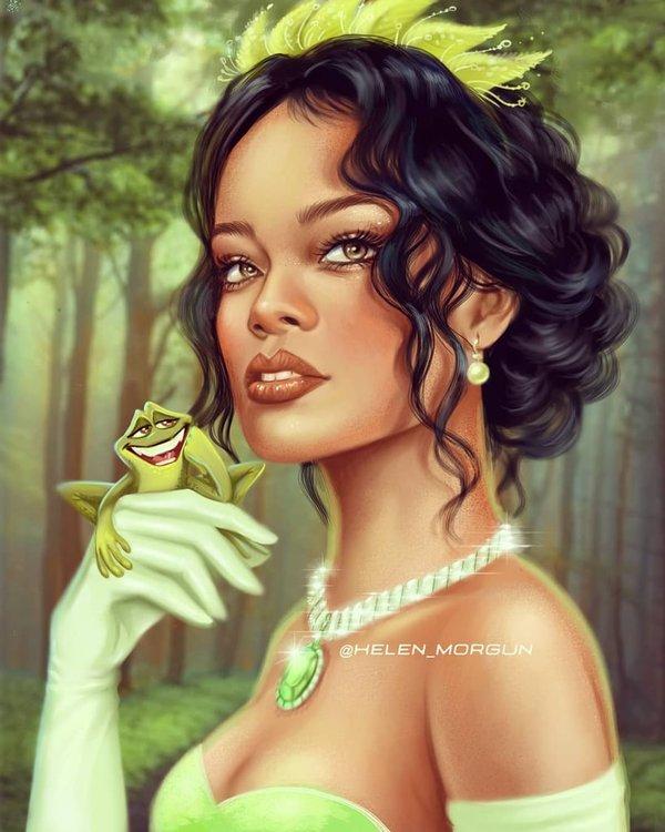 Rihanna hóa thân thành Tiana