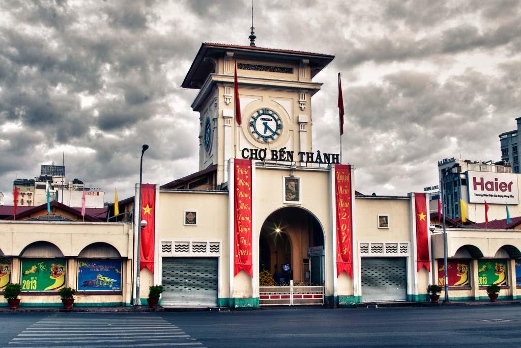 Ảnh đẹp chợ Bến Thành Sài Gòn