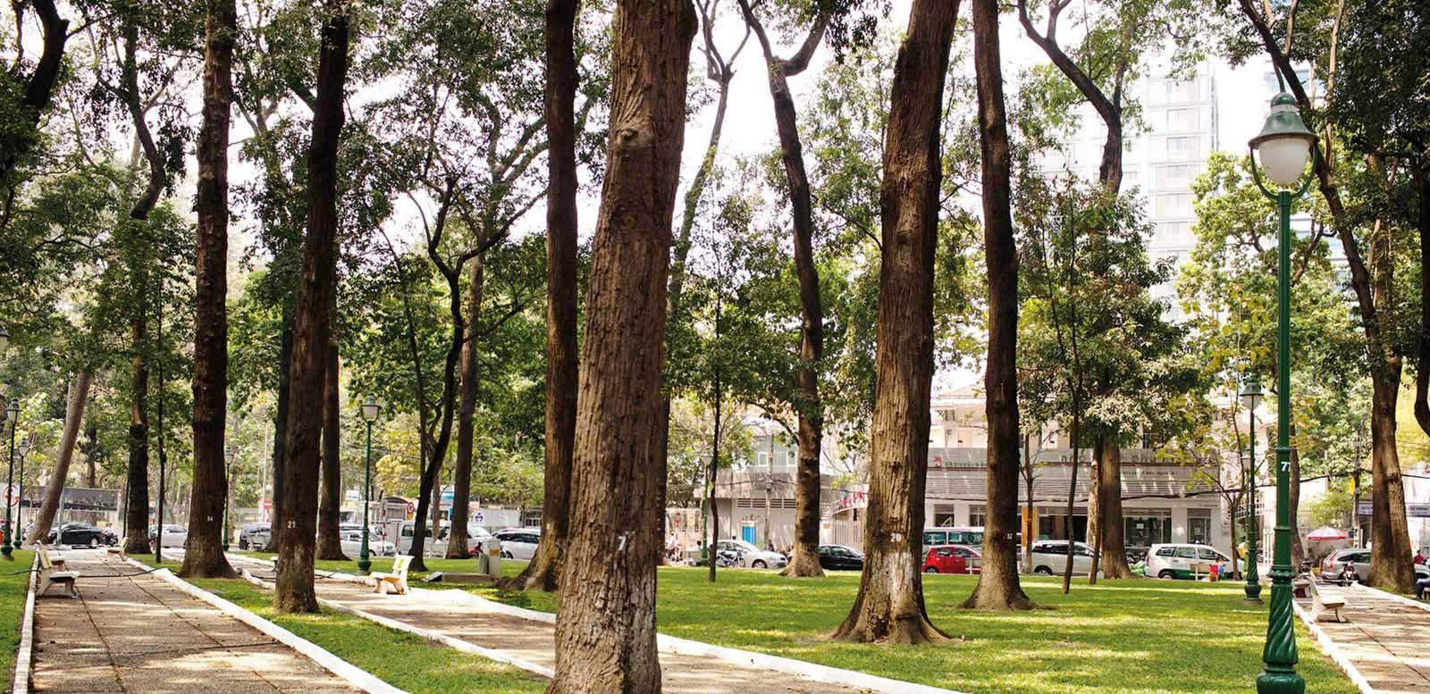 Ảnh đẹp góc công viên 30-4 Sài Gòn