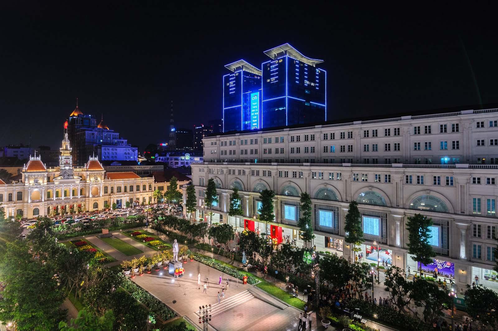 Ảnh đẹp phố Nguyễn Huệ-Sài Gòn buổi tối