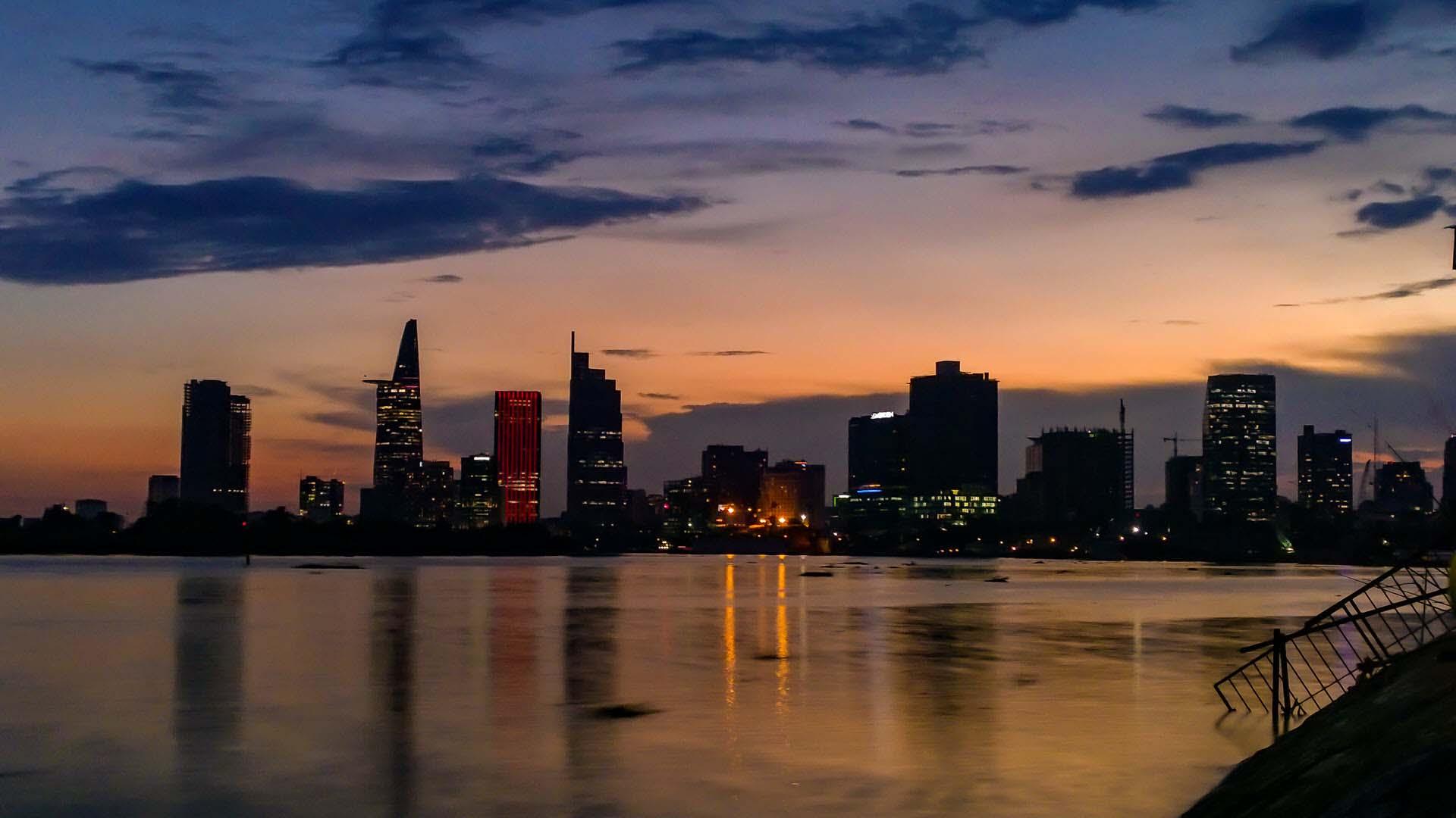 Ảnh đẹp Sài Gòn hoàng hôn