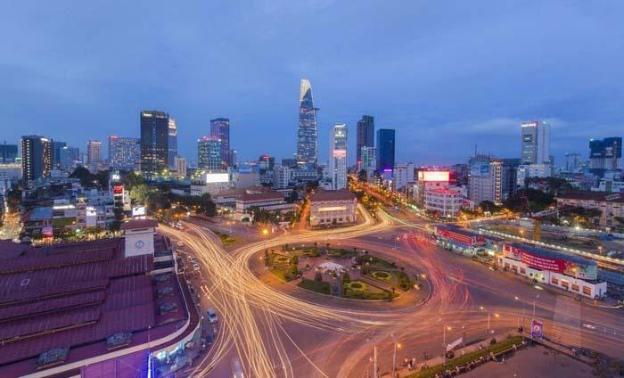 Ảnh đẹp Sài Gòn nhìn trên cao