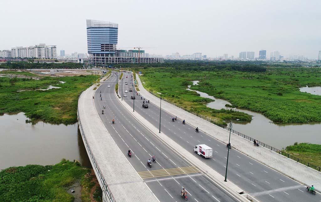 Hình ảnh đại lộ Nguyễn Cơ Thạch-Sài Gòn
