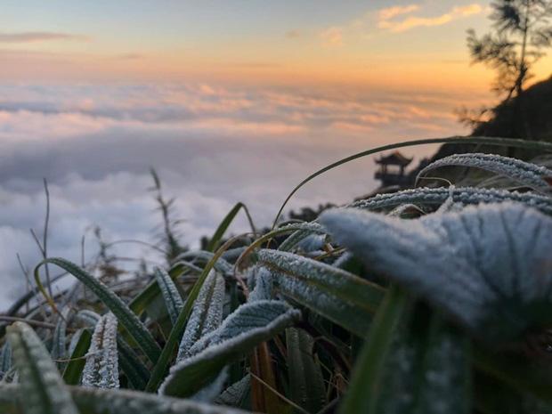"""HOT: Xuất hiện băng giá phủ trắng đỉnh Fansipan, dân tình rục rịch rủ nhau cuối năm lên Sa Pa """"săn"""" tuyết rơi - Ảnh 2."""