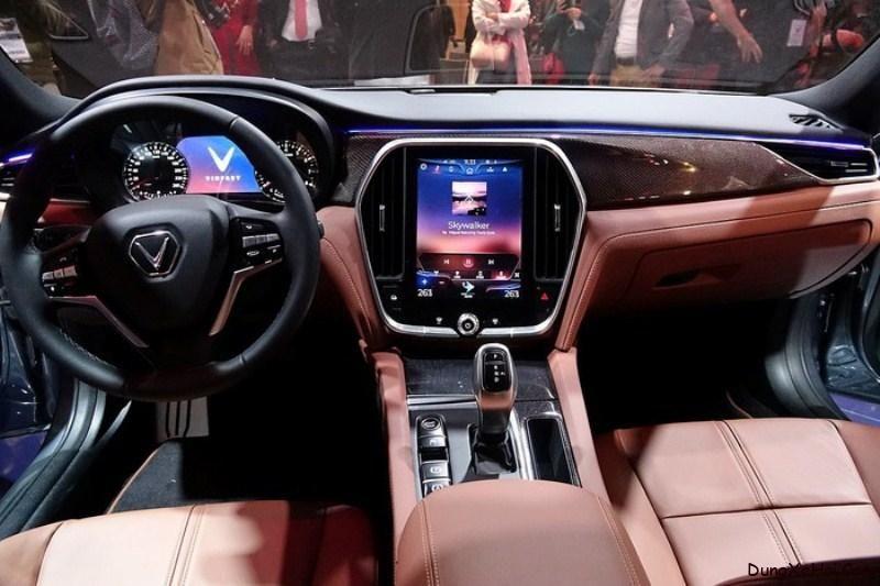 Khoang lái của Vinfast Lux A2.0 được thiết kế sang trọng