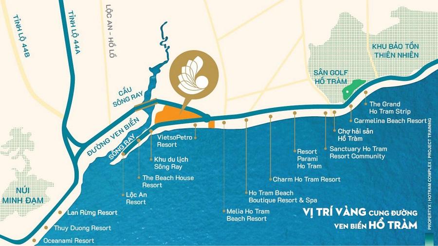Vị trí chung cư Hồ Tràm Complex