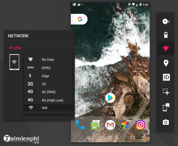gia lap android genymotion