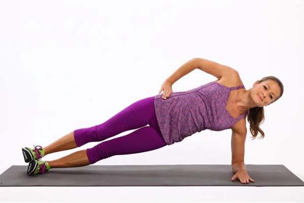 Bài tập Side Plank nghiêng người