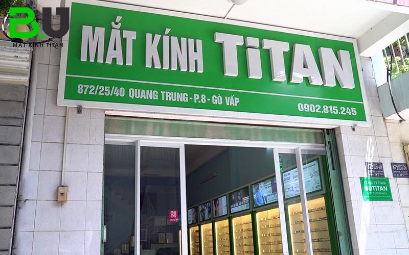 Mắt kính Titan là cửa hàng kính cận mỏng uy tín tại TP HCM