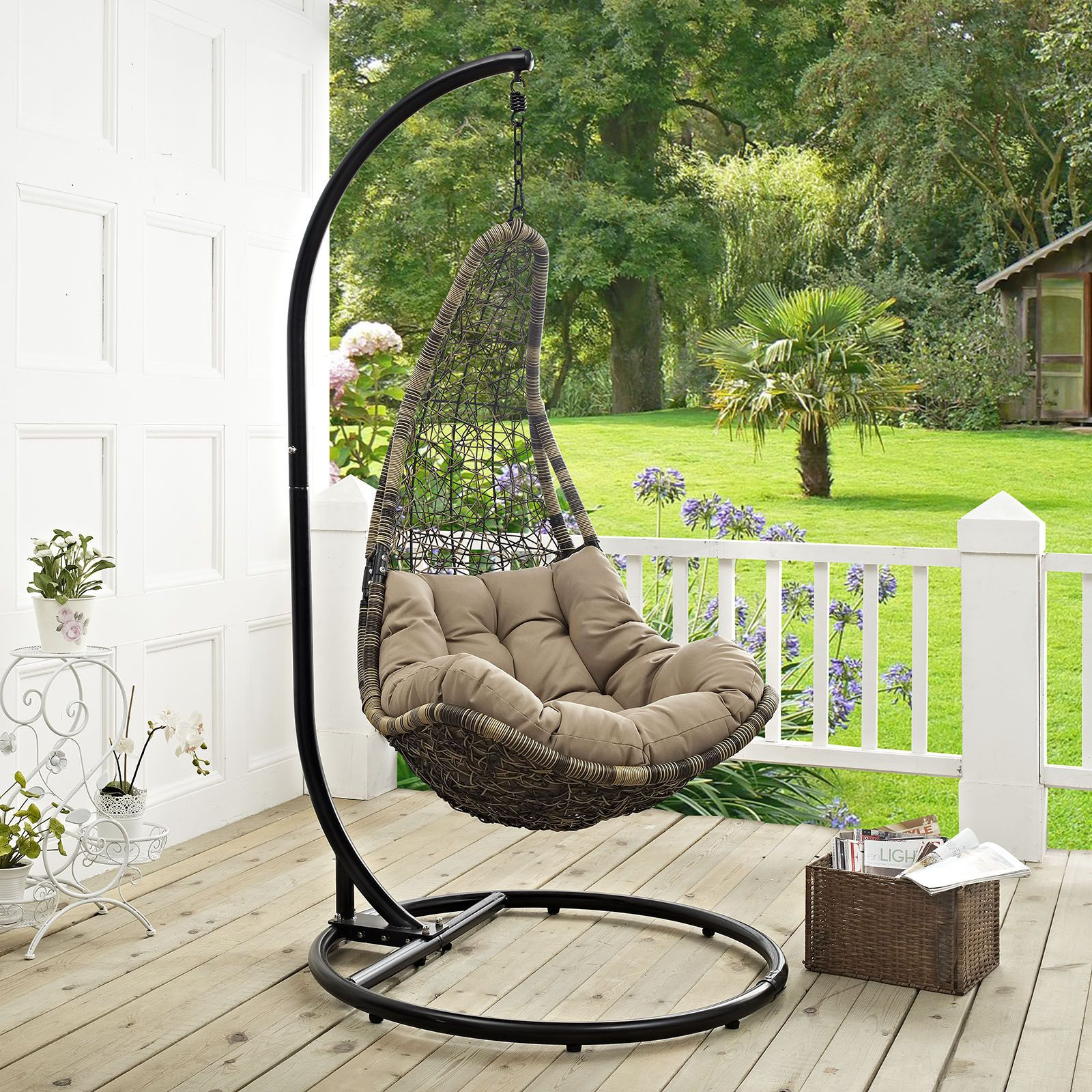 Modway Furniture Abate Outdoor Patio Swing Chair | Patio swing chair, Patio swing, Outdoor patio swing