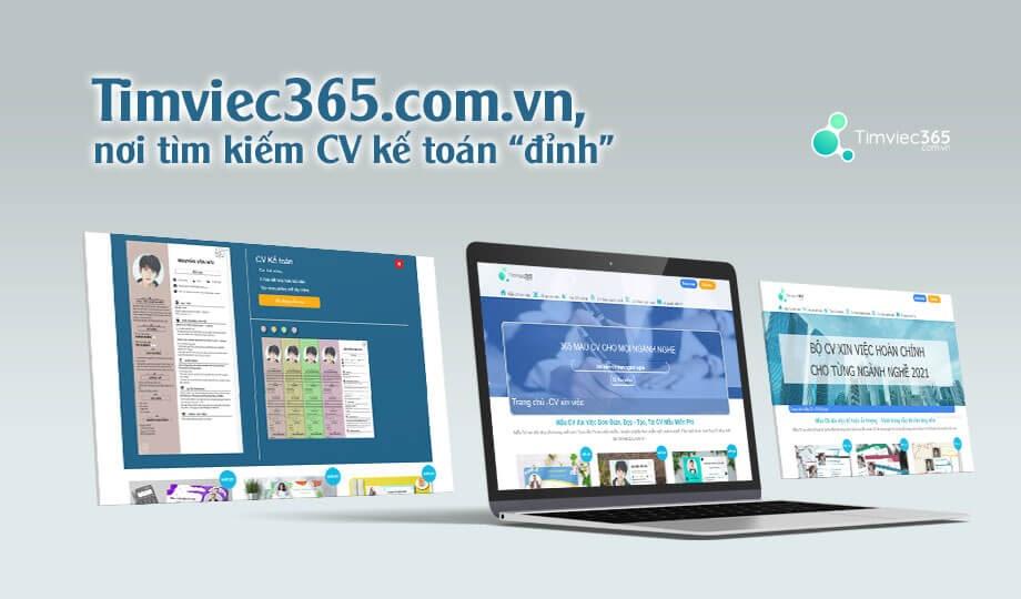CV kế toán trên Timviec365.com.vn