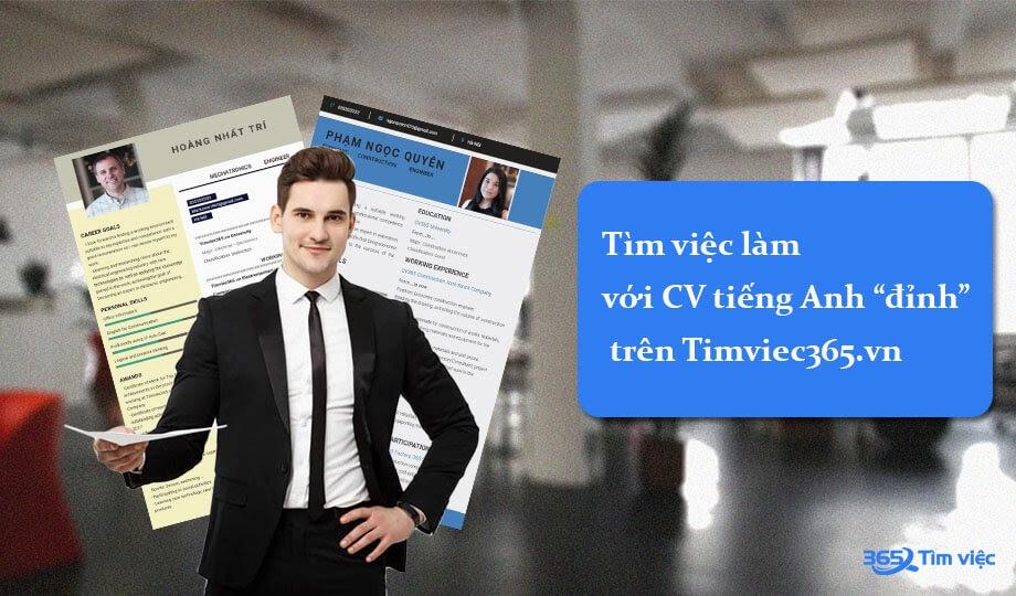 Cơ hội tìm việc lớn với CV tiếng anh