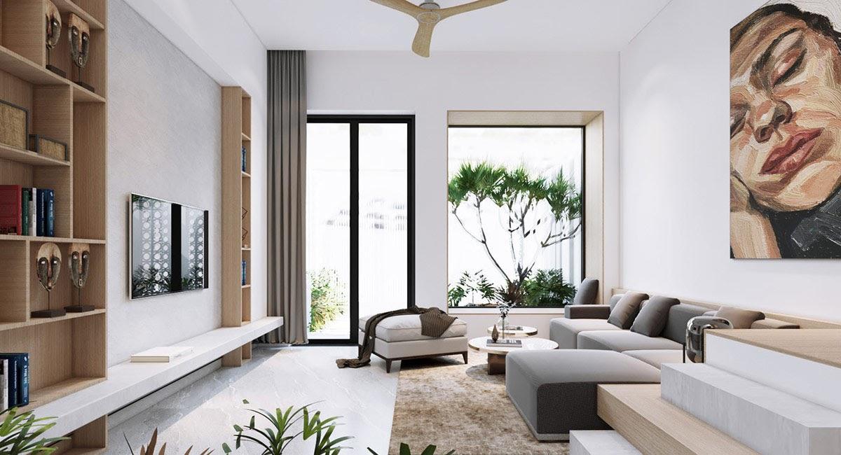 Lựa chọn vị trí cửa chính và cửa sổ trong phòng khách