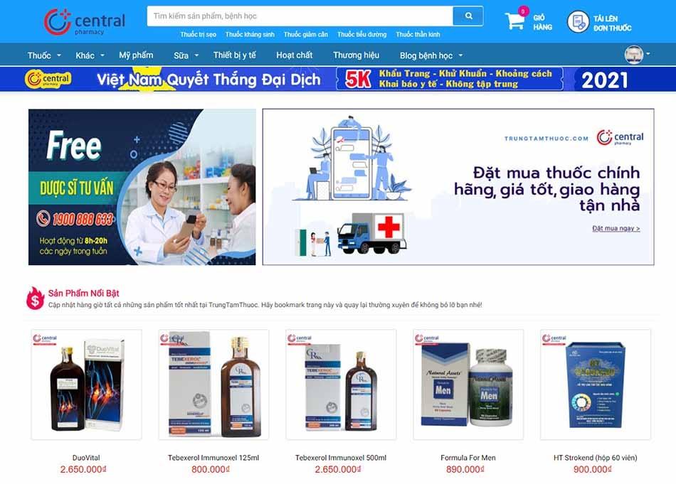 Nhà thuốc online Trung Tâm Thuốc Central Pharmacy